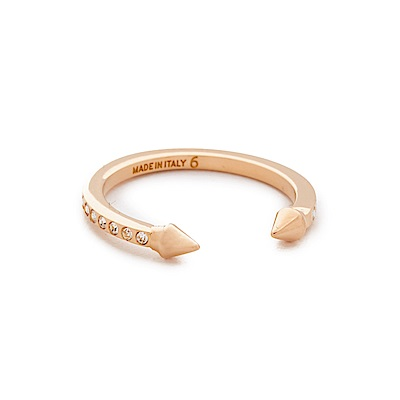 VITA FEDE義大利時尚珠寶精品 Mini施華洛世奇水晶泰坦玫瑰金戒指