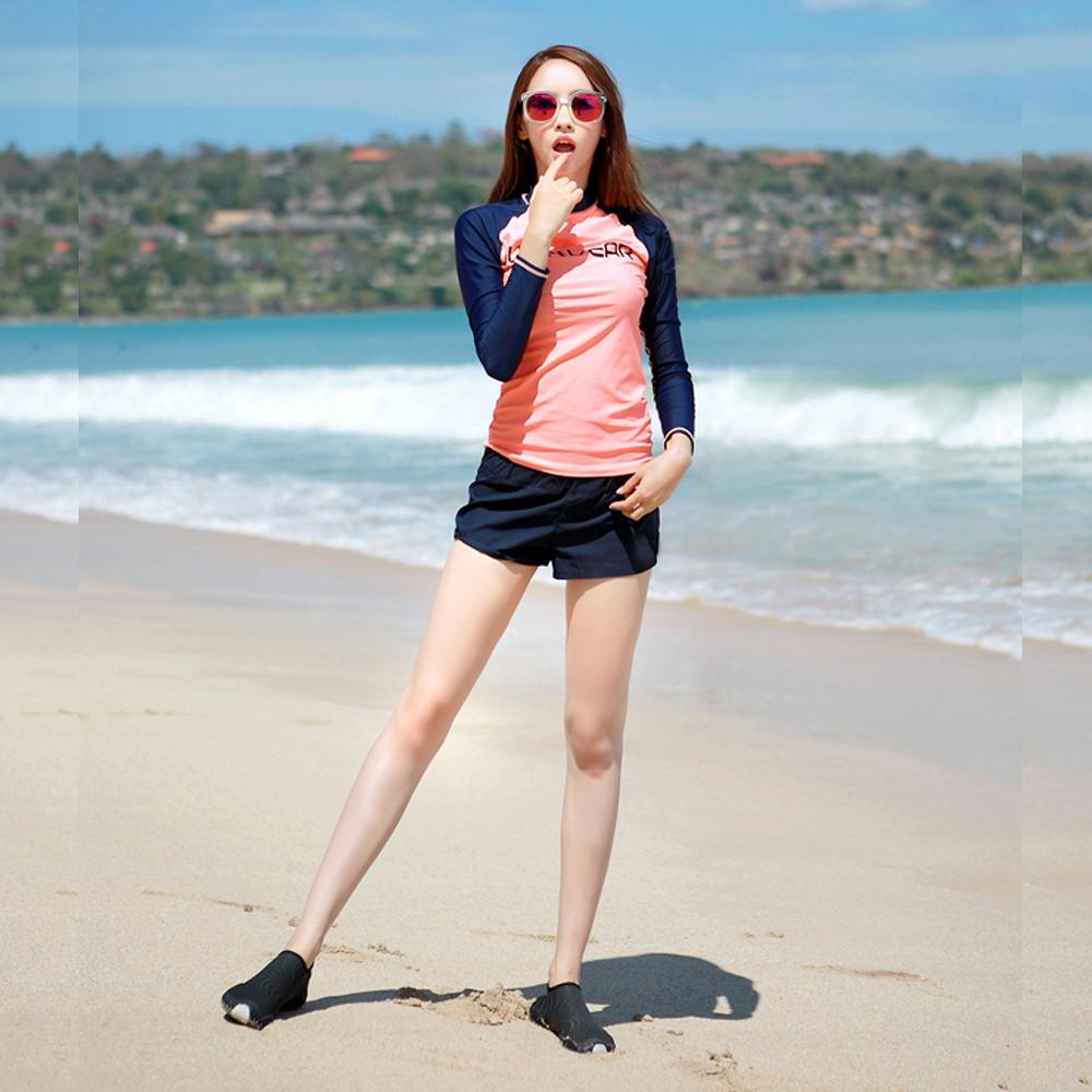 Biki比基尼妮泳衣  路意長袖三件式泳衣泳裝比基尼(M-2XL)