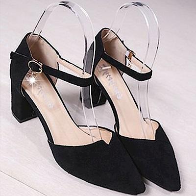 KEITH-WILL時尚鞋館 瘋搶英倫簡約時尚粗跟鞋-黑色