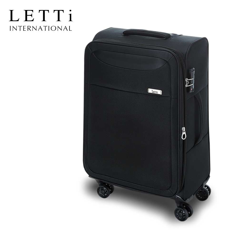 LETTi  城市輕旅II 24吋靜音輪超輕量布箱 (質感黑)
