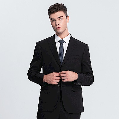 Emilio Valentino 范倫提諾修身西裝外套-黑