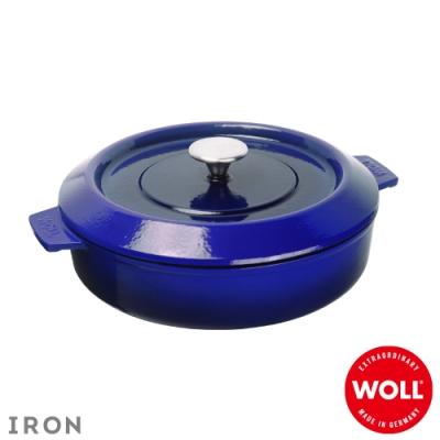 WOLL德國歐爾 IRON淺型鑄鐵鍋28cm-藍