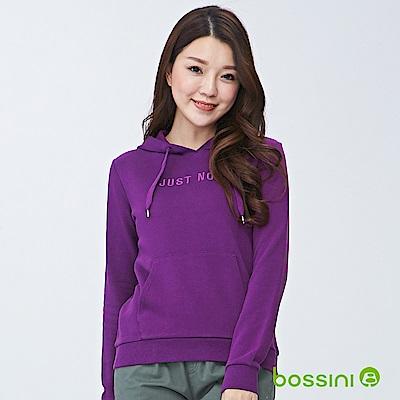 bossini女裝-連帽厚棉T恤01深紫