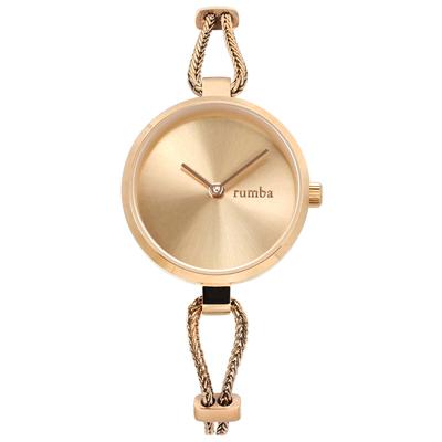 rumba time 紐約品牌 細緻鋼鍊 極簡設計 不鏽鋼手錶-鍍玫瑰金/26mm