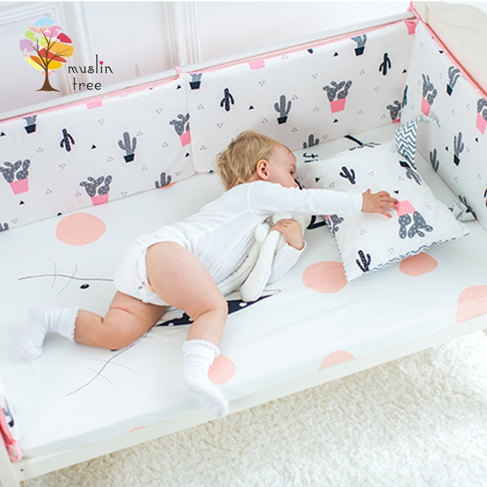 Muslin tree 嬰兒床加厚防撞床圍寶寶防摔床墊