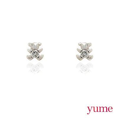 YUME - K金小熊晶鑽耳環