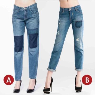 [時時樂限定]BRAPPERS 女款 八分男友褲(二款選)