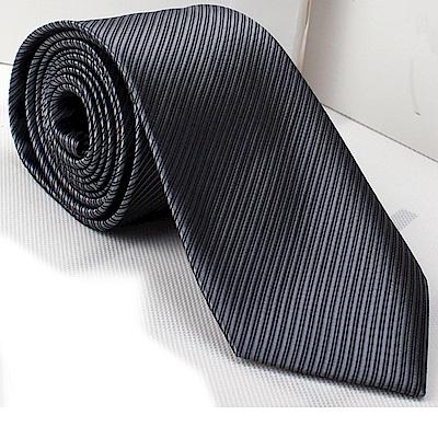 拉福   防水領帶6cm中窄版領帶拉鍊領帶 (深灰)