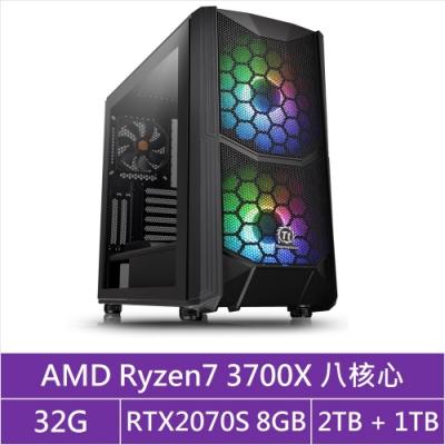 (無卡分期12期)華碩X570平台[貪婪冥王]R7八核RTX2070S獨顯電玩機