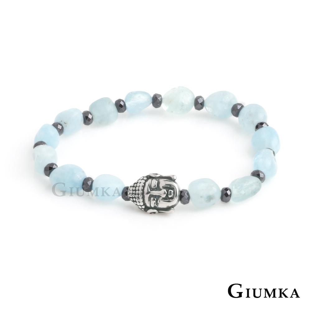 GIUMKA佛像造型多切面串珠彈性手鍊(八色任選)