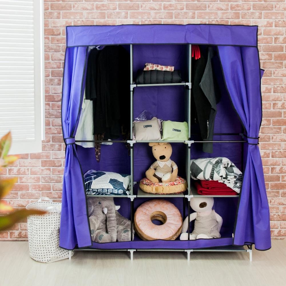 樂嫚妮 DIY組合防塵衣櫃/衣櫥-紫