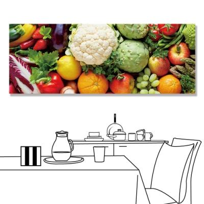 【24mama 掛畫】單聯式 新鮮 營養 健康 有機食物 無框畫-80x30cm(蔬菜和水果)