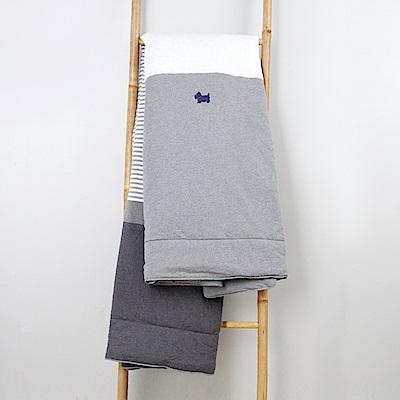 YVONNE COLLECTION 狗狗條紋雙人四季被(6x7呎)-暗灰