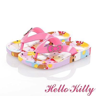 HelloKitty童鞋 好朋友系列 蝴蝶結輕量減壓休閒拖鞋-粉