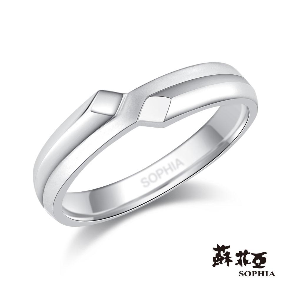 蘇菲亞SOPHIA 鉑金戒指-悸動鉑金鑽石男戒
