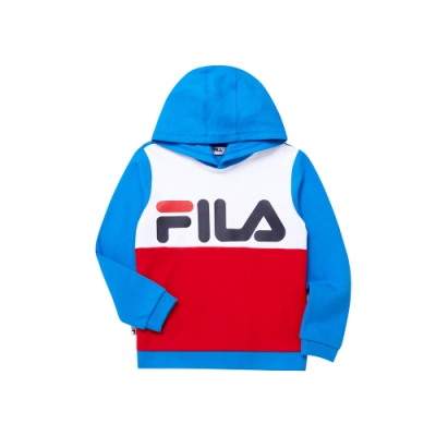 FILA KIDS WONNIE FRIENDS 童長袖連帽上衣-藍1TEU-4508-BU