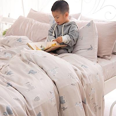 OLIVIA  羊駝森林 標準雙人鋪棉床包冬夏兩用被套四件組  230織萊賽爾TENCEL