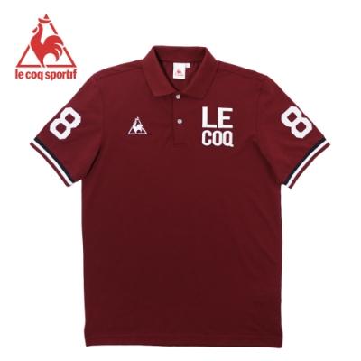 le coq sportif 法國公雞牌經典字母LOGO短袖POLO衫 男-暗紅