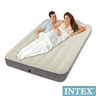 INTEX 新型氣柱-雙人植絨充氣床墊-寬137cm(64102)