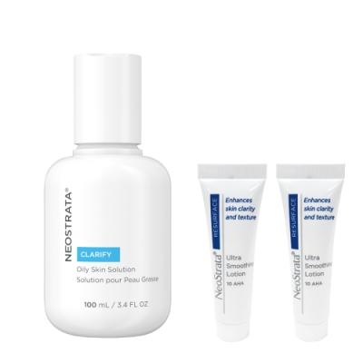 (加贈果酸活膚修護乳液10mlx2)NeoStrata芯絲翠 油性膚質專用果酸溶液100ml