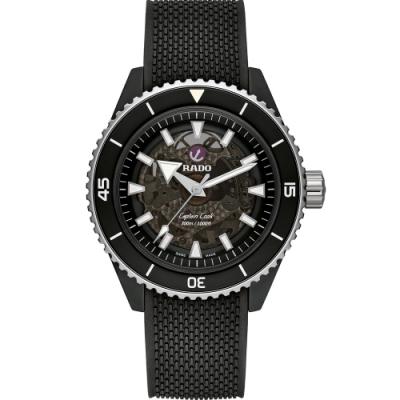RADO雷達 庫克船長 CAPTAIN COOK HIGH-TECH CERAMIC機械腕錶 (R32127156)-43mm