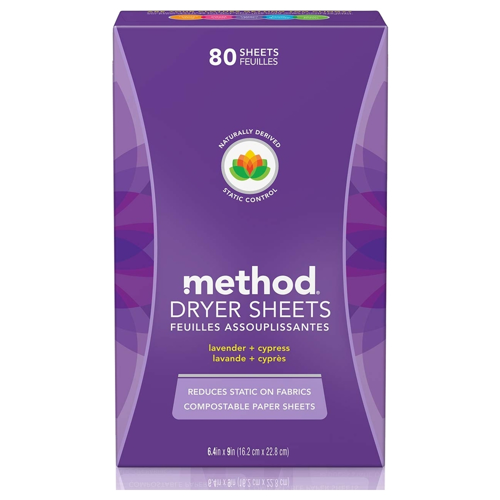 Method美則 香氛柔軟烘衣片-薰衣草80入