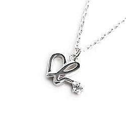 agnes b. Heart b logo經典純銀項鍊