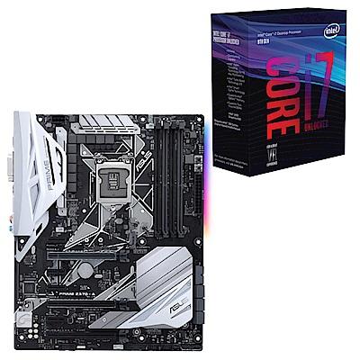 雅虎價Intel i7-8700K華碩PRIME Z370-A主機板