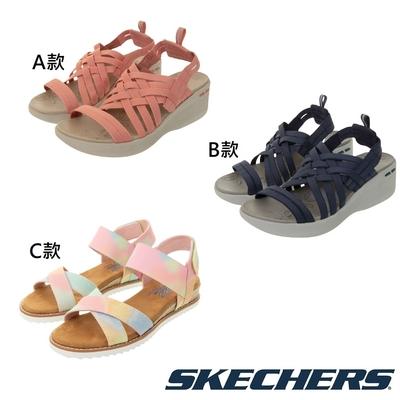 SKECHERS 女時尚休閒 楔型涼拖鞋
