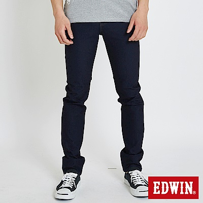 EDWIN 迦績 x EDGE 修身窄直筒牛仔褲-男-原藍色