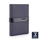 74盎司 皮夾 Mix 配皮護照夾[N-586-MI-M]藍
