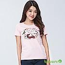 bossini女裝-印花短袖T恤10嫩粉