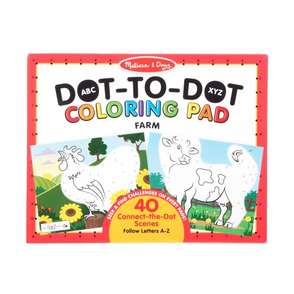 【Melissa & Doug 美國瑪莉莎】大型兒童繪本點點著色本 - 農場動物