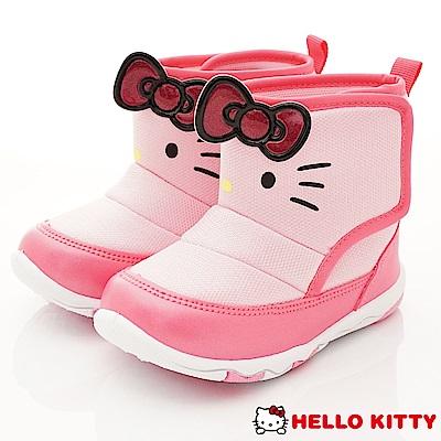 HelloKitty童鞋 凱蒂大蝴蝶結短靴款 SE18752粉(中小童段)