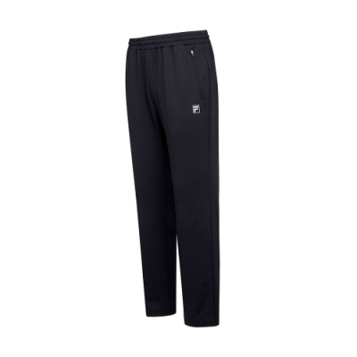 FILA 男抗UV吸濕排汗針織長褲-黑 1PNT-5308-BK