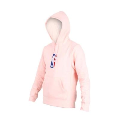 NIKE 男NBA連帽長袖T恤-長T 長袖上衣 籃球 刷毛 保暖 粉白