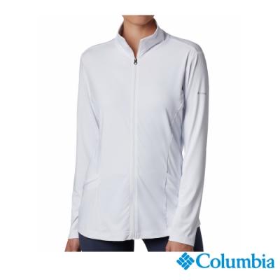 Columbia 哥倫比亞 女款-涼感快排防曬50立領外套-白色 UAR14150RD