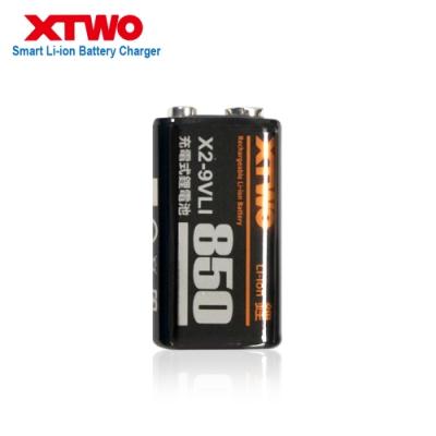 XTWO 高容量850型 9V鋰充電電池-1入