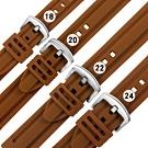 Watchband / 各品牌通用 舒適耐用 輕便 運動型 加厚矽膠錶帶-褐色