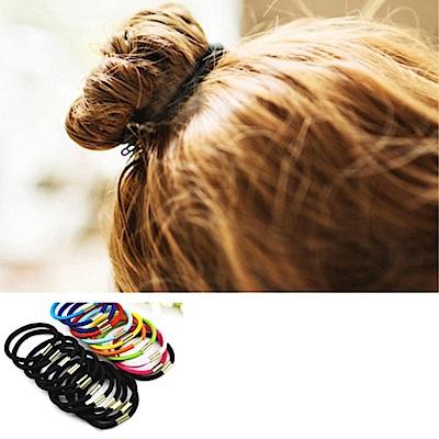 Hera 赫拉 純色高彈力帶扣髮圈/髮束-100入組-隨機出貨