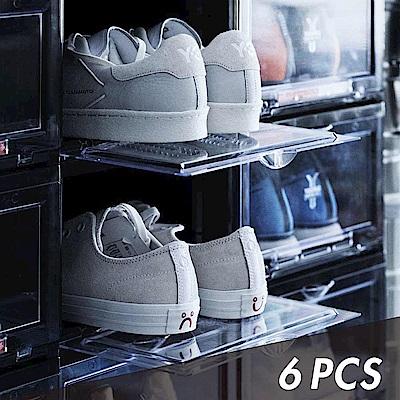 Y.A.S 美鞋神器 抗UV高端收納鞋盒-6件組