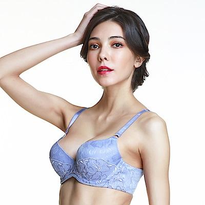 黛安芬-FLORALE 優雅杜鵑V型美背系列 C-E罩杯內衣 緹花紫