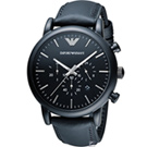 EMPORIO ARMANI Classic英倫簡約風計時腕錶(AR1970)黑/46mm