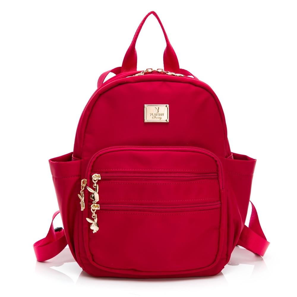 PLAYBOY-  後背包 輕奢簡約系列 -紅色