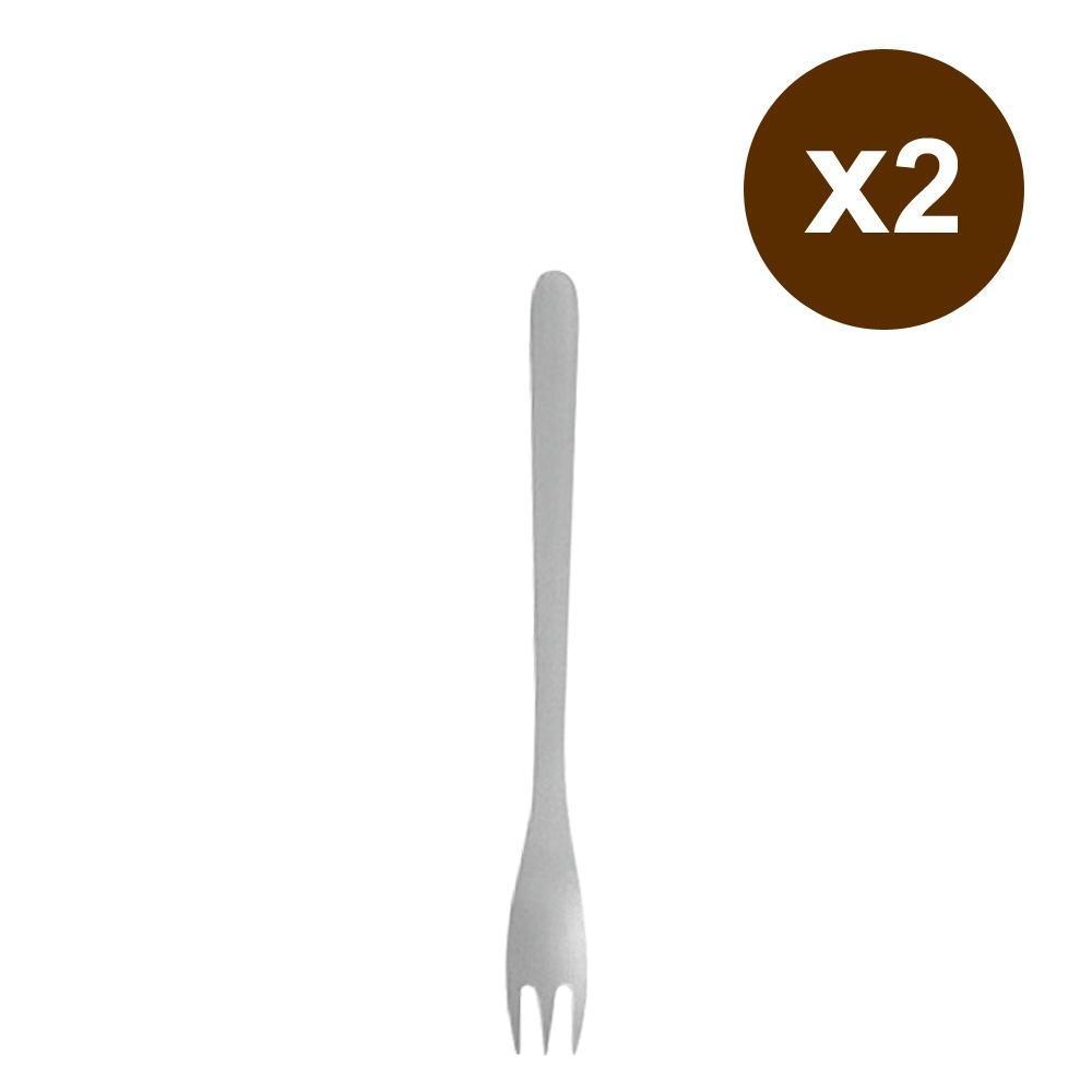 日本柳宗理 不鏽鋼蛋糕叉 2入組