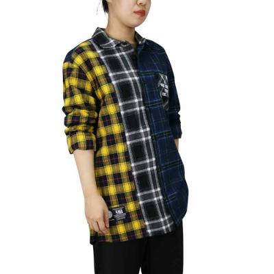 NBA Style WOVEN SHIRT 拼接格紋 長袖襯衫 馬刺隊