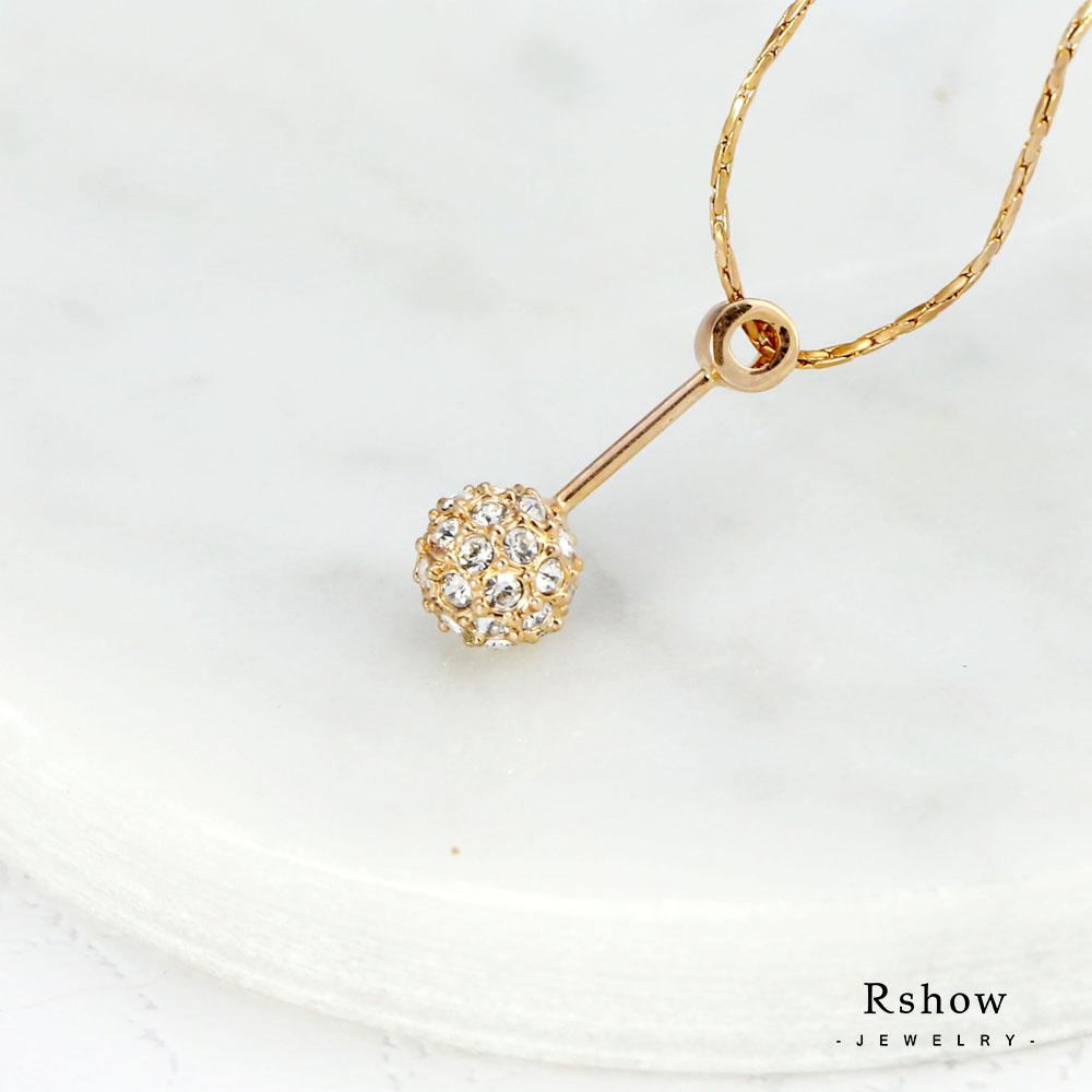 Rshow 聖潔珠光綴鑽項鍊