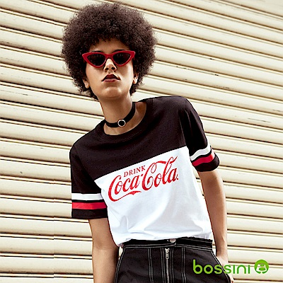 bossini女裝-CocaCola撞色印花T恤白