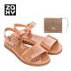 Zaxy TRENDY + WALLET FEM系列涼鞋-橘咖 product thumbnail 1