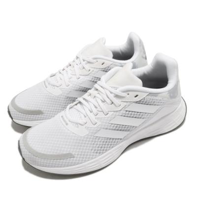adidas 慢跑鞋 Duramo SL 運動 女鞋 愛迪達 輕量 透氣 舒適 避震 路跑 白 灰 FY6706
